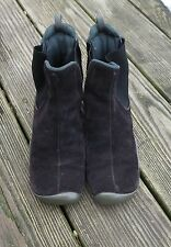PRADA BLACK SUEDE DOUBLE GORE SPORT ANKLE BOOTS MADE IN ITALY SIZE 37.5 U.S. 7