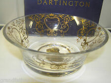 ROYAL WEDDING PRINCE WILLIAM KATE MIDDLETON DARTINGTON GLASS BOWL GOLD ETCHED