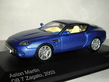 WHITE BOX ASTON MARTIN DB7 ZAGATO BLUE 2003 1/43