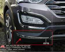 FOR 2013 HYUNDAI SANTA FE IX45 FRONT BUMPER CHROME COVER TRIM MOLDING PROTECTOR