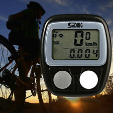 Bicycle Bike Cycling Computer LCD Odometer Speedometer Stopwatch Speed meter New