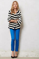 Anthropologie S Spike Striped Cardigan Sweater by Monogram HWR Black & White