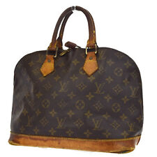 Auth LOUIS VUITTON Alma Hand Bag Monogram Canvas Leather Vintage M51130 03A544