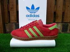 vintage adidas HAMBURG 80s casuals ADI UK8.5 2014 RED/GREEN SUEDE RARE LOOK!!
