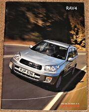 2000 toyota RAV4 sales brochure-nv nrg gx vx