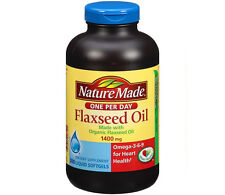 Nature Made Flaxseed Organic Flax Seed Oil 1400 mg (300 Softgels)
