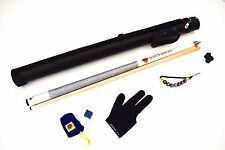 PE-1 DELTA Billiard Pool Cue Kit, FREE 1x1 CASE, CHALK & CASE, GLOVE, JOINT CAP