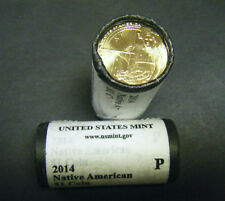 2014 Native American SACAJAWEA GOLD Dollar $1 25-Coin Original Mint roll Por D