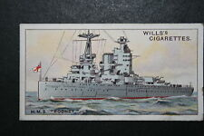 H.M.S. RODNEY   Royal Navy Battleship     Vintage Colour Card