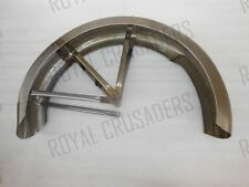 TRIUMPH T90 PRE WAR REAR MUDGUARD + STAYS (FORK GIRDER MODEL) RAW STEEL (CODE908