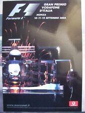 CARTOLINA GRAN PREMIO VODAFONE D'ITALIA MONZA 2004 ( 05 )