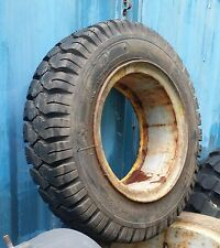 West Lake 7.00-15 NHS Mining / Forklift Tire Mounted on Cast Spoke Wheel Rim NOS