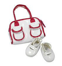 Gotz Hannah Play Doll White Bag and Shoes Set 3401792 NEW