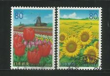 Japan 2002 'Flowers Of Hokkaido' Complete Set In FU Condition