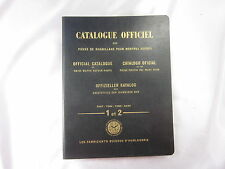 1955 OFFICIAL CATALOGUE OF GENUINE SWISS WATCH REPAIR PARTS VOL I&II 4 LANGUAGES
