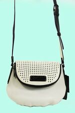 MARC JACOBS Q NATASHA Perforated Leather X-Body Shoulder Bag Msrp $398.00