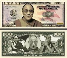Le DALAI LAMA - BILLET MILLION DOLLAR US ! Collection PRIX NOBEL PAIX Signature