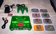 N64 Jungle Green Console lot System 8 Classic Nintendo 64 Games & Expansion Pak