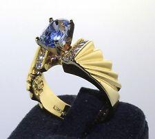 Estate 14k Yellow Gold Sapphire, Diamond Ring. Craig Burgess, $890 or Best Offer