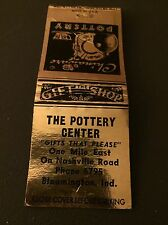 The Pottery Center Bloomington IN Indiana Matchbook Matchcover