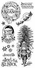 Graphic45 ST. NICHOLAS #1 Cling Stamps Set of (9) scrapbooking CHRISTMAS