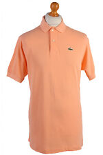 "Lacoste Vintage Casual Men Polo Shirt Sandybrown Chest Size 46"" - PT0569"