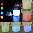 LED 7 Color Changing Mood Cube Night Glow Lamp Light Gizmo Home Party Decoration