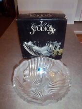 """NEW - Crystal Clear Studios Sutton Place 24% Full Lead Crystal 9""""  Round Bowl"""