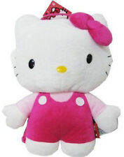 "Backpack 14"" Full Body Plush Sanrio Hello Kitty Pink Overall NWT"