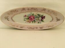 Vintage Arnart 5th Avenue, Pink Rose Porcelain Dish, Hand Painted, Collectible