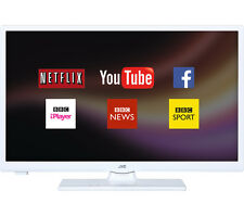"JVC LT-24C661 Smart 24"" LED TV, Access content on Netflix,HD Ready 720p - White"