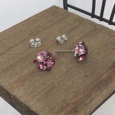 High Quality Purple Crystal Titanium Post Stud Earrings US Seller Made in Korea