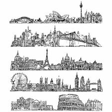Tim Holtz Cityscapes Cling Mount Sets Collection from Stampers Anonymous CMS224