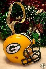 CHRISTMAS GREEN BAY PACKERS XMAS BELL NFL FOOTBALL HELMET ORNAMENT