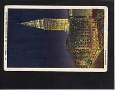 View of The Hotel Cleveland & Terminal Tower, Ohio, USA, Stamp/Postmark-1939