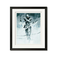 Metal Gear Solid Gray Fox Graphic Art Poster Print