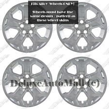 """Chrome Wheel Skins Hubcaps for 2011-2014 Ford Edge fits 18"""" Alloy Wheels ONLY!"""