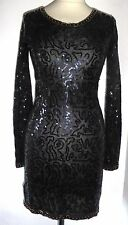 MNG sequinned stretch body con dress UK 12 med