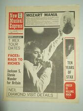 NME #1264 APRIL 17 1971 T. REX JACKSON 5 STEVIE WONDER NEIL DIAMOND MOZART