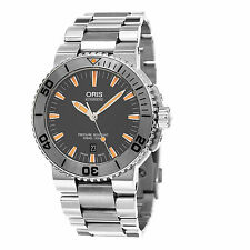 Oris Men's Aquis Grey Dial Stainless Steel Swiss Automatic Watch 73376534158MB
