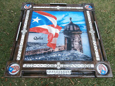 Domino Tables by Art with Puerto Rico Morro & Puerto Rican Flag
