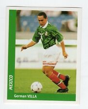 figurina DS CALCIATORI WORLD CUP FRANCE 98 NUMERO 229 MESSICO VILLA