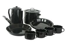 Enamel Cookware Camp Set 13 Pce 4 Mugs 4 Plates Coffee Pot Billy Fry Pan Camping