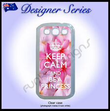 Designer Samsung S3 case hard cover Pink frangipani Keep Calm and Be A Princess