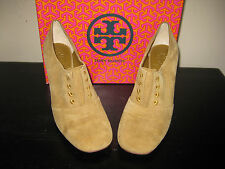NEW IN BOX TORY BURCH STELLA OXFORD BOOTIES VICUNA SUEDE SHOES PUMPS SIZE 9.5