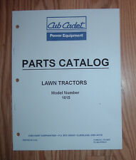 CUB CADET 1015 LAWN & GARDEN TRACTOR ILLUSTRATED PARTS LIST MANUAL