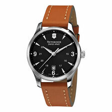 Victorinox Swiss Army Men's Alliance Leather Strap Watch 241475 new with warrant