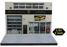 Diorama présentoir garage Lamborghini - 3 inch | 1/64ème - #MR3inG001