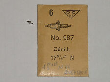 Zenith balance staff 17 3/4 N / 18 1/2 NIII  axe de balancier Unruhwelle DCN 987