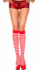 Candy Cane Striped Socks Red White Knee Highs Knee High Sock Christmas Elf 9-11